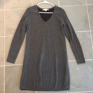Ann Taylor LOFT Gray Black Sweater Dress XS
